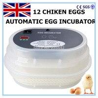 12 Eggs Incubator Egg Automatic For Chicken Quail Tool Free Shipping To EU