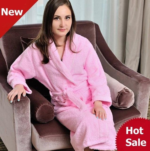 Халаты кимоно женщин Corto женщин сплошной цвет полный рукав махровые гостиная сна халаты пеньюаре роковой цветочные халат