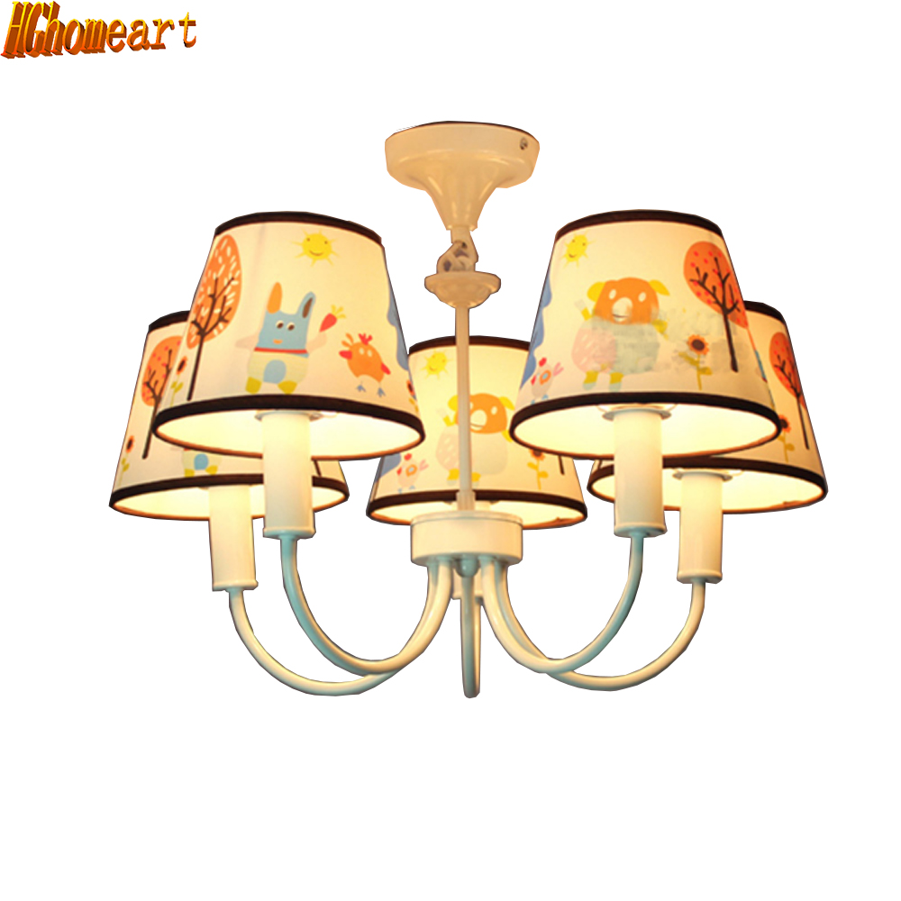 HGhomeart modern chandelier bedroom home lighting living room chandelier Led dining chandeliers children's room hghomeart cartoon kids room chandelier led luminaria room iron chandelier lighting creative eye bird chandeliers for the bedroom