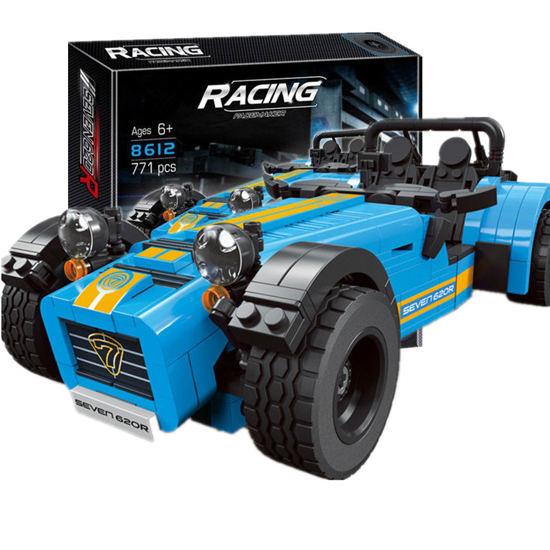 DECOOL 8612 ideas racers Caterham Seven 620R Sports Car And F430 Sports Model Toys Blocks Brick Compatible With Lego цена