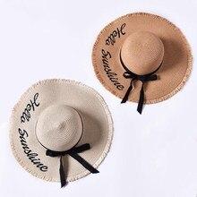 Sombrero de Sol de ala grande caliente 2018 para mujer con letras plegables  de colores hecho 2c6979adcfc