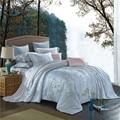 Svetanya tencel juego de cama queen king size ropa de cama suave y cubierta del edredón de lujo establece gris estampado floral