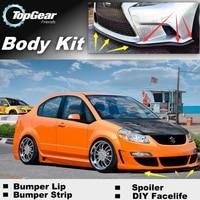 Bumper Lip Deflector Lips For Suzuki SX4 SX 4 SX 4 Neo Baleno Front Spoiler Skirt For TopGear Car Tuning View / Body Kit / Strip
