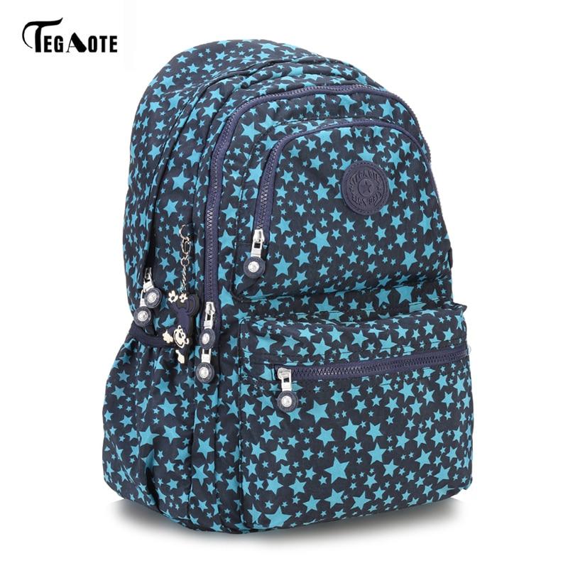 TEGAOTE Laptop Backpack College Student Large Capacity Computer Backpacks For Teens Nylon Waterproof Bags for Men Women