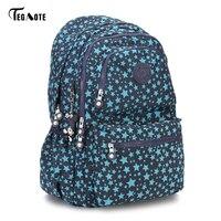 TEGAOTE Laptop Backpack College Student Large Capacity Computer Backpacks For Teens Nylon Waterproof Bags For Men