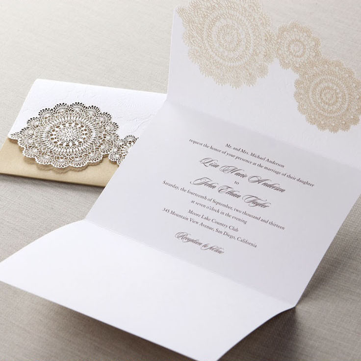 Handmade Wedding Invitation Tri Fold Laser Cut Pink Gold Invitations On Aliexpress Alibaba Group