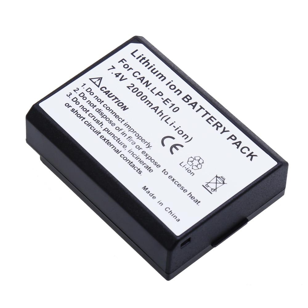 Totalmente decoded lp-e10 bateria de substituição para canon rebel eos 1200d t5 t3 1100d beijo x50 x70 câmeras digitais 7.4 v 2000 mah