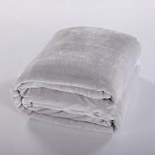 Flannel Blanket Black Gray Brown Pink White Super Warm Soft Blankets Throw on Sofa Bed Plane
