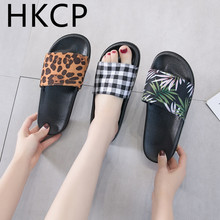 HKCP Fashion 2019 new Korean version retro slippers female summer wear street harajuku one word beach C378