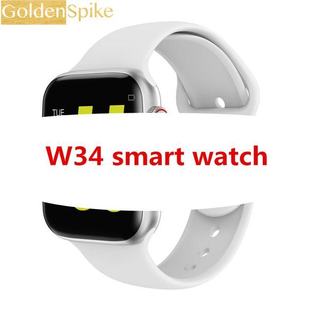 Bluetooth smartwatch W34 42MM pk IWO 8 IWO 9 B57 ECG Heart Rate Monitor smart watches men women for apple iphone huawei xiaomi