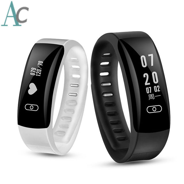 Brand New Fitness Bracelet Wearable Devices Support 12 Language Russian French Pedometer Bracelets Heart Rate Monitor