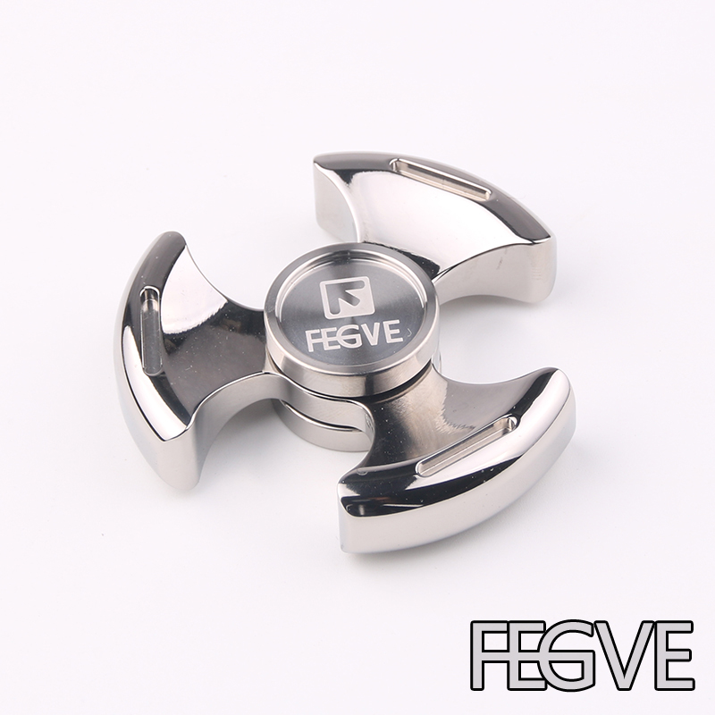 FEGVE Top Fidget Spinner Hand Spinner High Speed Engrave Logo Titanium Toys Anxiety Stress Adults Kid Metal finger spinners