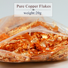 20 grams Red Copper Rose gold flake , fragment of imitation leaf foil sheets for all kinds decorations