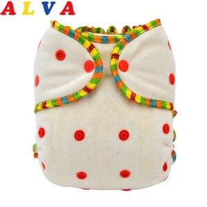 1 шт., детский многоразовый моющийся бамбуковый подгузник ALVA FT01