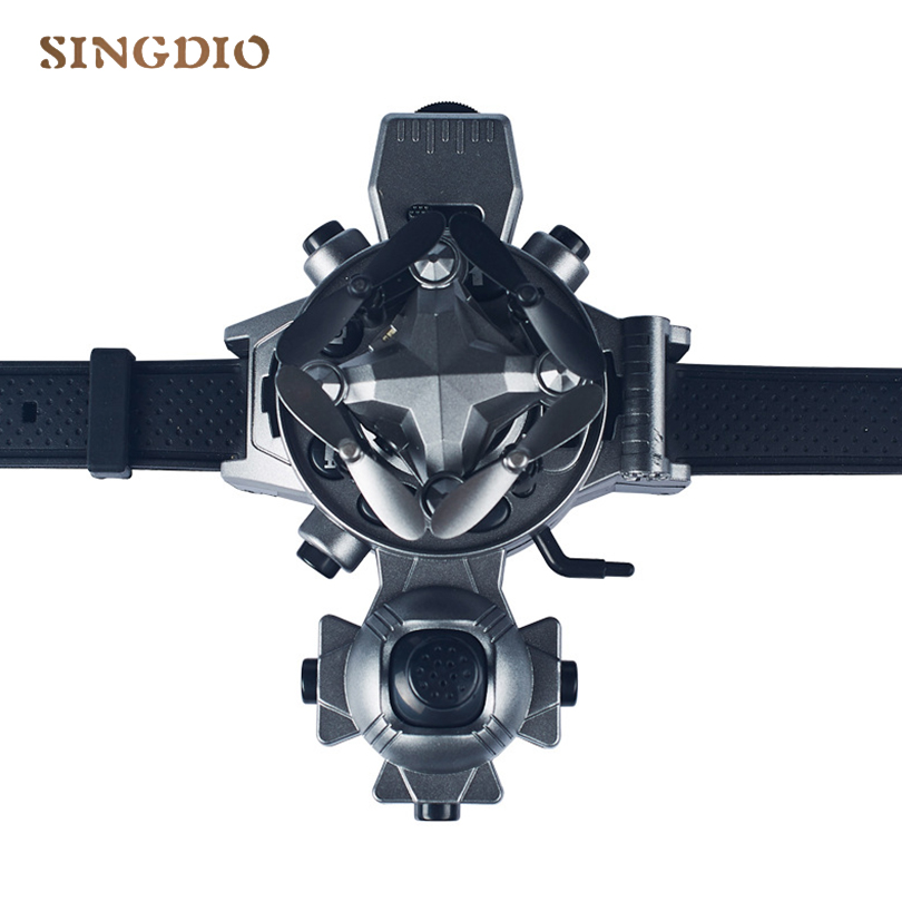 New Style Flying Copter Drone Mini HD Camera Watch Remote Control Toys Children Creative Gifts Folding FPV Drone Flying Copter creative 2 4ghz remote control 4 ch ladybug style flying ufo w gyro yellow black red