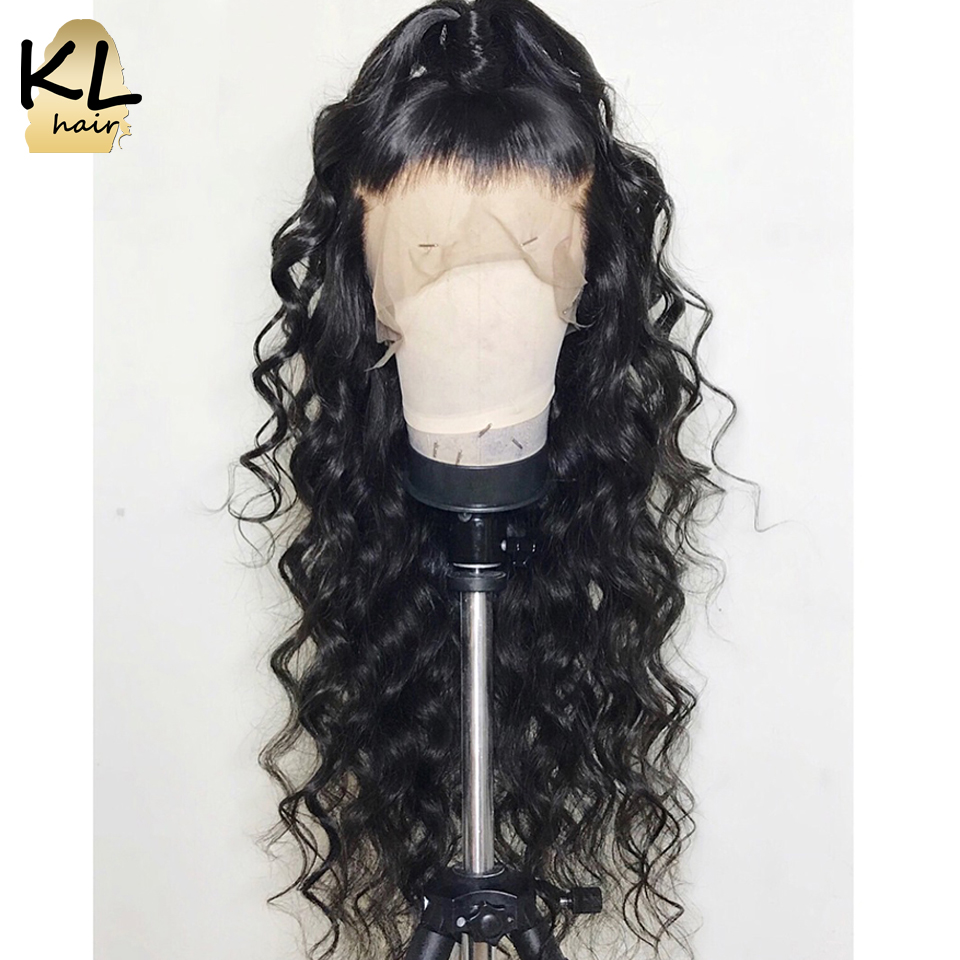 360 Lace Frontal Wig For Black Women 150% Density Loose Wave Brazilian Remy Hair Human Hair Wigs With Baby Hair KL Full End(China)