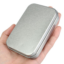 Home Storage Survival Kit Tin Small Empty Silver Metal Storage Box Case Organizer For Money Coin Candy Keys
