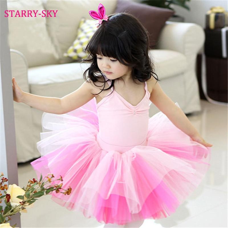 100% Kwaliteit Ballet Dress Meisjes Dans Kostuums Voor Meisje Kinderen Kids Jurken Gymnastiek Dancewear Turnpakje Tutu Rok Meisje Roze Ballett Dress Grote Uitverkoop