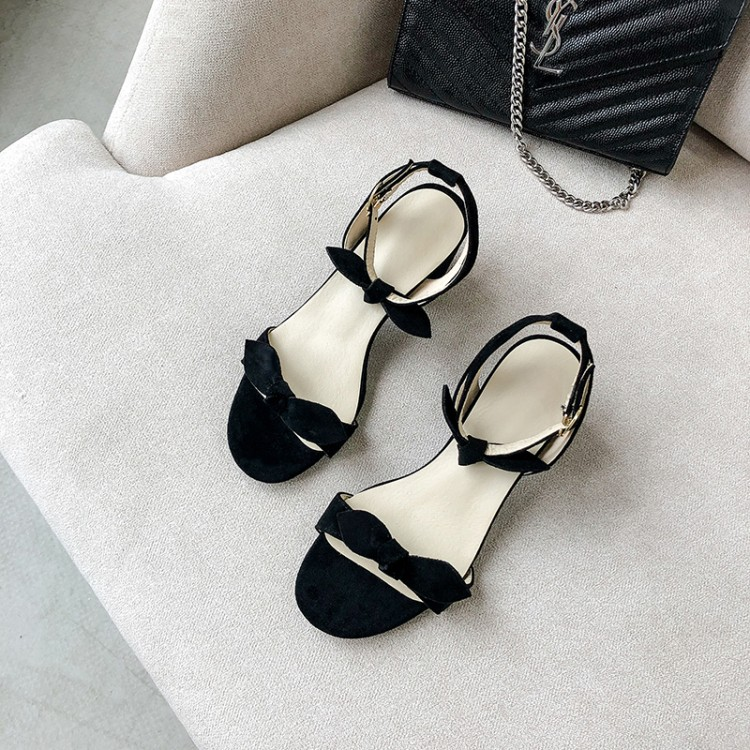 Big Size 9 10 11-16  high heels sandals women shoes woman summer ladies A buckle with an open toe bowBig Size 9 10 11-16  high heels sandals women shoes woman summer ladies A buckle with an open toe bow