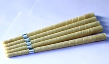 71 pairs/lot medical grade smoke free natural beewax ear candle,ear waxing cone,without pesticide residue,freeshipping
