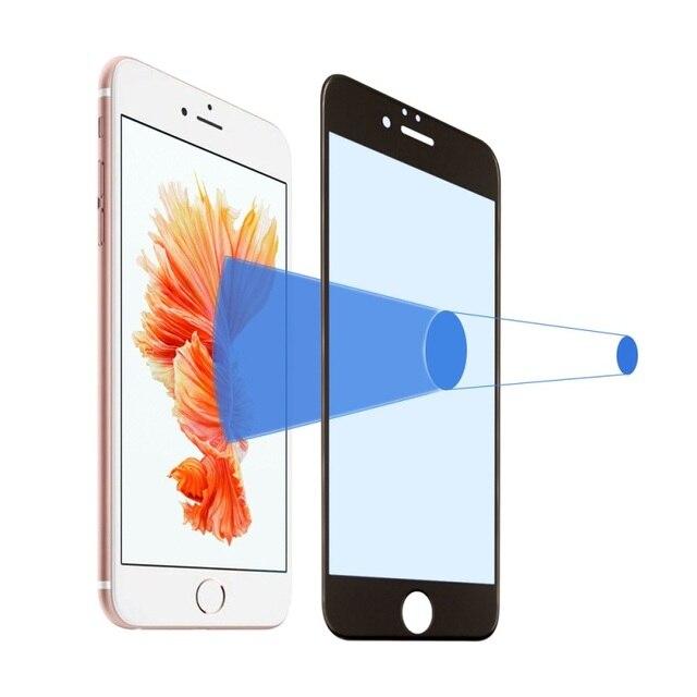 Для iPhone 6 s Plus/6 Плюс Закаленное Стекло 0.3 мм 3D Анти-blue-ray Закаленное Стекло Пленка Экрана для iPhone 6 s Plus Полный Охват