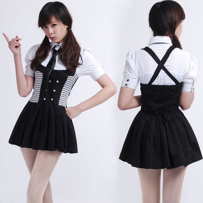 Inu x Boku SS Shirakiin Ririchiyo / Roromiya Karuta Full Set Cosplay Costume Inu x Boku Secret Service School Uniform Dresses