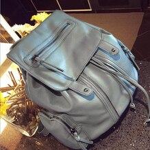 Мода новый промытые кожи женщины рюкзак сумки на ремне ретро женщин сумка девушки мешок школы рюкзак bookbags BP00055