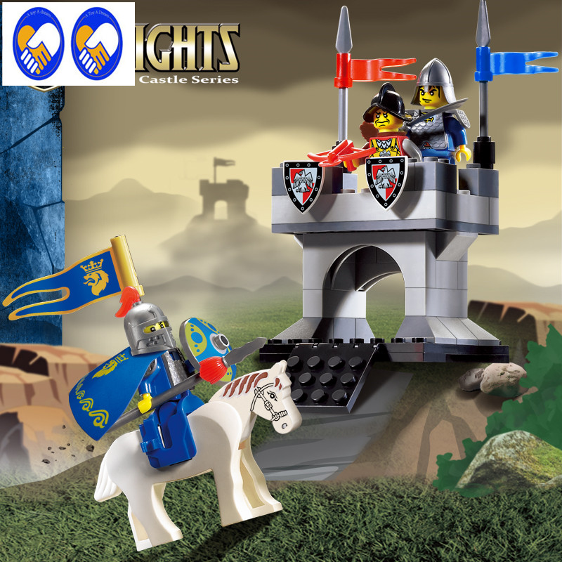A Toy A Dream Enlighten1015 Castle Educational Building Blocks Toys For Children Kids Gifts Horse Knight Compatible With Lepin enlighten 306 pirate ship scrap dock building blocks model toys compatible with lepin educational gift for children