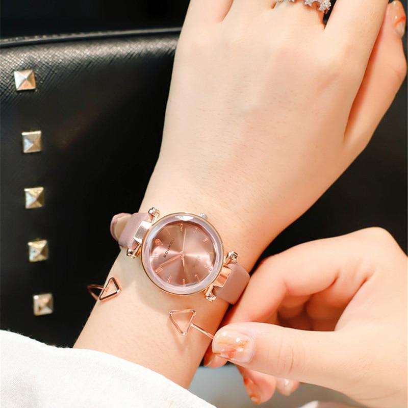 Polygonal dial design women watches luxury fashion quartz watch ulzzang popular brand white ladies leather wrist watch