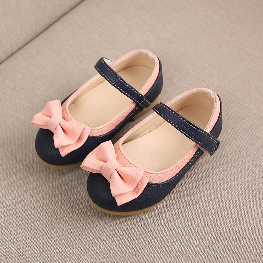 Children Kids girls summer Sweet Cute Bowknot Dance Princess Sangle Casual Shoes girls shoes sandals chaussures ete fille#BYY30(China)