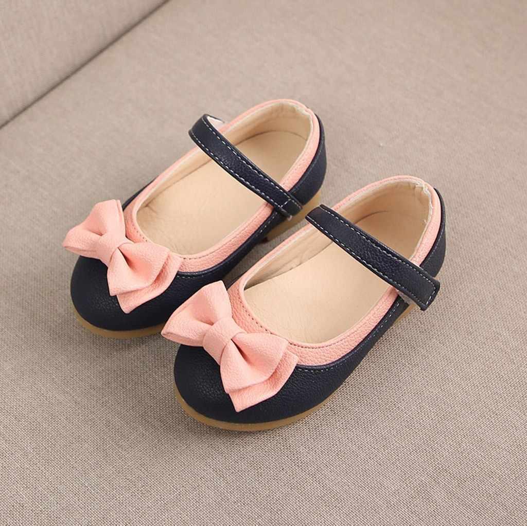 เด็กฤดูร้อนสาวหวานน่ารัก Bowknot Dance Princess Sangle Casual รองเท้าสาวรองเท้ารองเท้าแตะ chaussures ete ผู้หญิง # A35