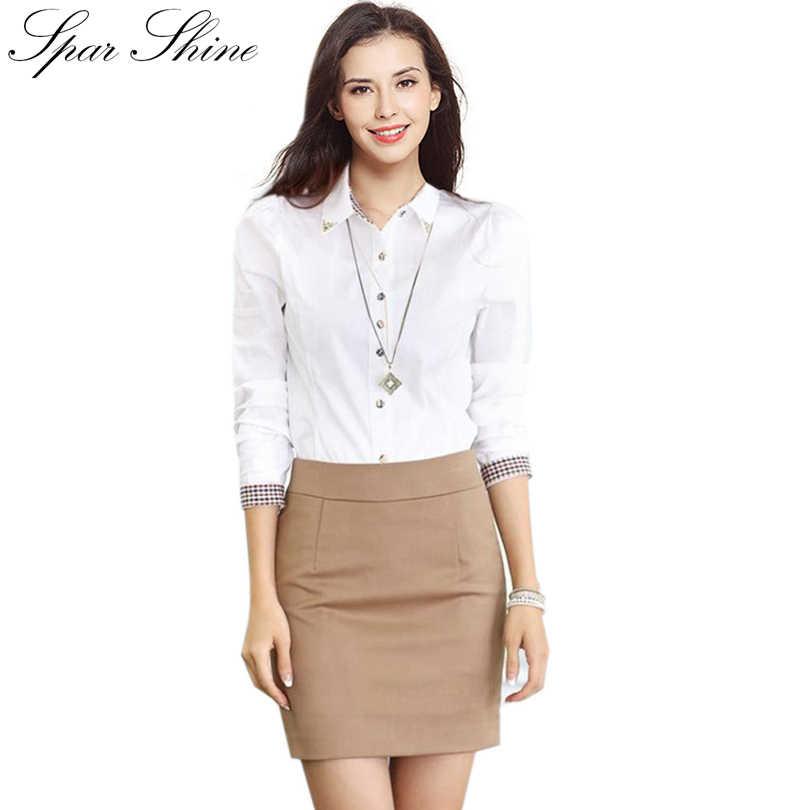 56b6fc2af96 Camisa Feminina 2018 шифоновая блузка Рубашки женские летние топы Женская  одежда белые офисные блузки Большие размеры