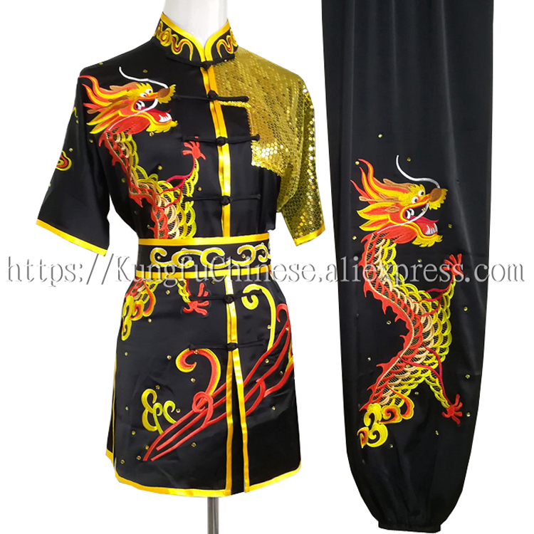 Chinese Wushu clothes Kungfu uniform taolu clothing Martial arts suit Routine outfit for boy men women