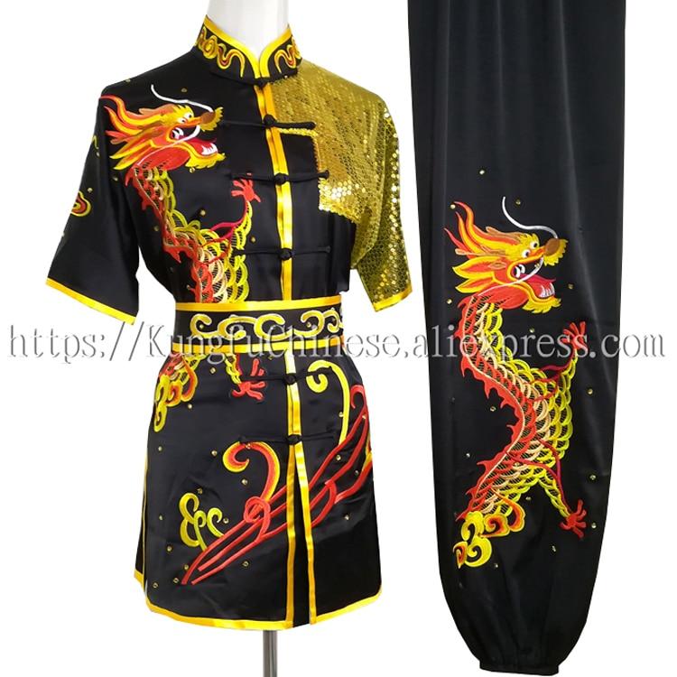 Chinese Wushu clothes Kungfu uniform taolu clothing Martial arts suit Routine outfit for boy men women