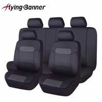 Flying Banner11PCS Full Set High PU Leather Car Seat Cover Universal Car Interior Accessories Auto Car