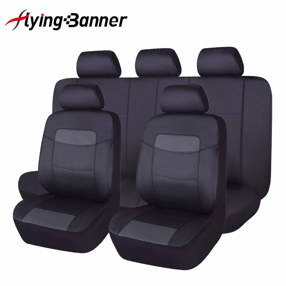 High quality pu leather car seat cover universal 8 colors automobiles seat covers for toyota kalina