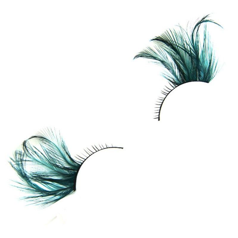 YOKPN New Arrival Colorful Feather Long Eyelashes Stage Makeup Fake Eyelash Exaggerated Art False Eyelashes Full Strip Lashes