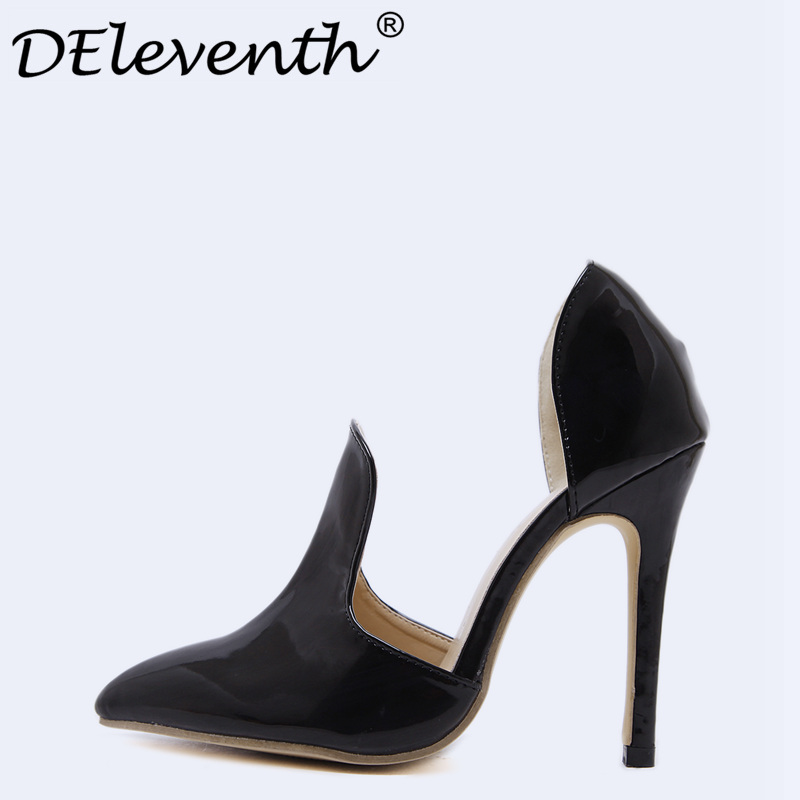 DEleventh Hot 2018 New Spring Women's Solid Color Point Toe Stiletto High Heels Shoes Woman Pumps Sapato Feminino Ladies Shoes mavirs high heels hot sale spring brand women pointed toe shoes flock ladies pumps glitter suqare heels sapato feminino plus 653