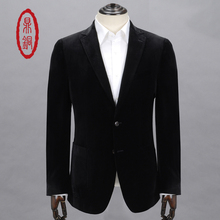 DINGTONG Men's Spring Autumn Single Suit Polyester Fabric Fashion Style Blazers for Men Business Casual Dress Coats