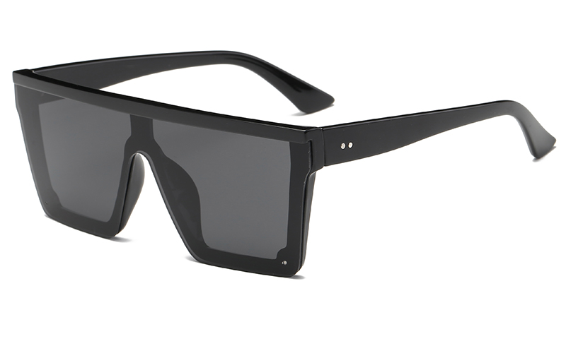 2c13ebf1a78f RunBird Brand Fashion Black One Piece Sunglasses Men Oversize ...