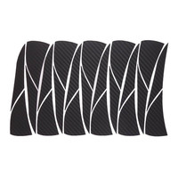 Car Styling 1set 16 Inches Carbon Fiber Wing Wheels Mask Decal Sticker Trim For VW Bora