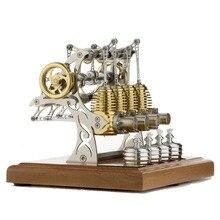 Stirling engine model, assembled movable metal engine stirling engine model
