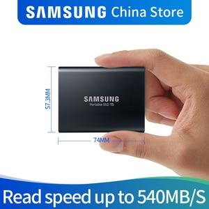 Image 1 - Samsung T5 ポータブル ssd ディスコ duro ssd 2 テラバイト 1 テラバイト 500 ギガバイト 250 ギガバイト外部ソリッドステートドライブ USB3.1Gen2 との下位互換性のための PC