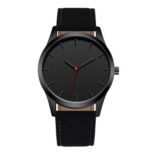 Reloj 2019 Fashion Large Dial Military Quartz Men Watch Leather Sport Watches High Quality Clock Wristwatch Relogio Masculino T