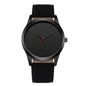 Reloj 2019 Fashion Large Dial Military Quartz Men Watch Leather Sport watches High Quality Clock Wristwatch Relogio Masculino T(China)