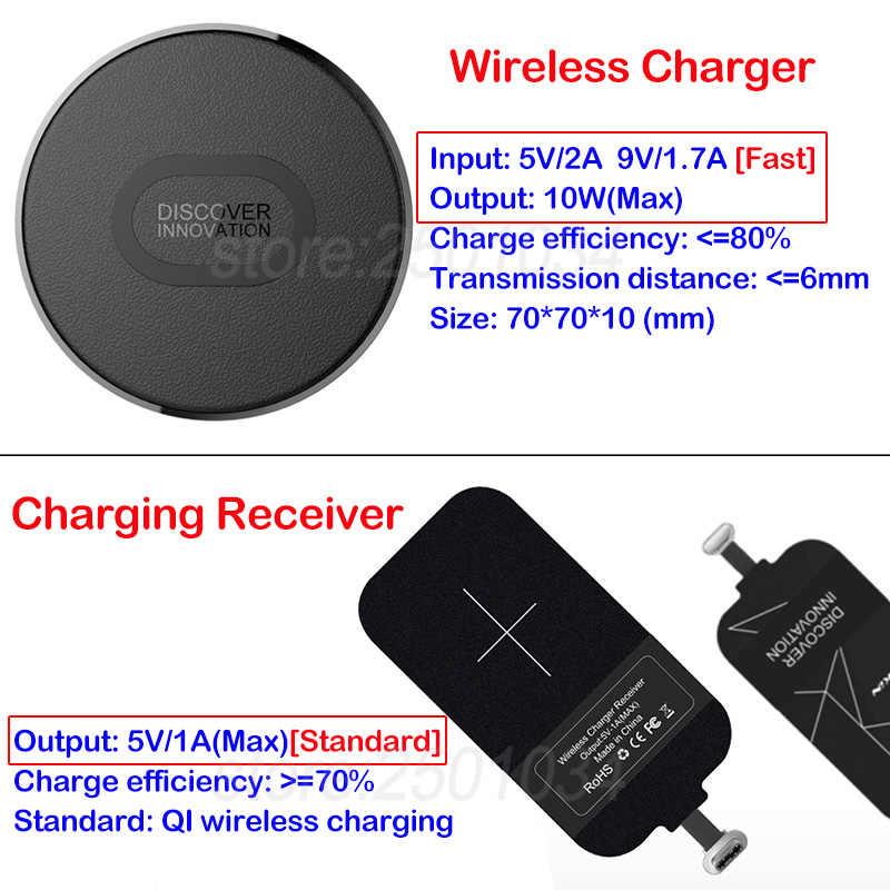 Nillkin Mini Qi Беспроводное зарядное устройство + приемник usb type C Беспроводная зарядка для Huawei Honor 9 10 20 P9 P30 P20 Lite mate 20 9 10 Pro
