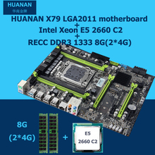 HUANAN X79 MOTHERBOARD-FREIES CPU RAM combos X79 LGA2011 V2.49 motherboard Xeon E5 2660 C2 speicher (2*4G) 8G DDR3 REG ECC 2 jahre warrant