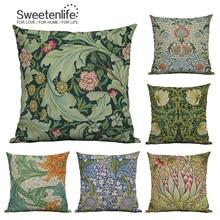 Sweetenlife funda de almohada Vintage Floral decorativo cojines decoración del hogar 45*45 fundas de cojines de sofá nueva funda de almohada