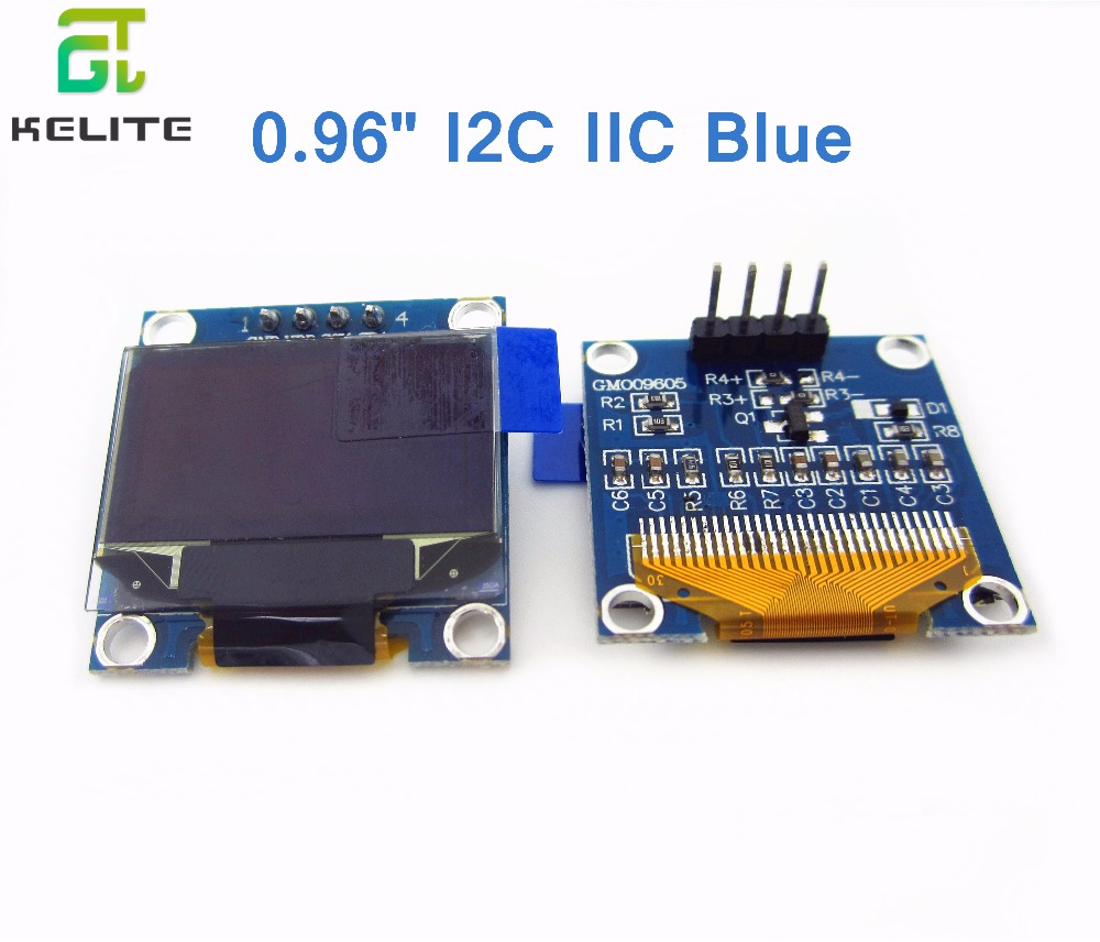 HAILANGNIAO 10Pcs 128X64 blue OLED LCD LED Display Module  0.96 I2C IIC SPI Serial new 1 3 inch 128x64 oled display module blue 7 pins spi interface diy oled screen diplay compatible for arduino