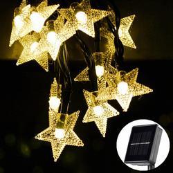 Солнечная светодио дный светодиодная гирлянда 5-52 м водостойкие сказочные огни Рождественская Свадебная гирлянда сад газон дерево